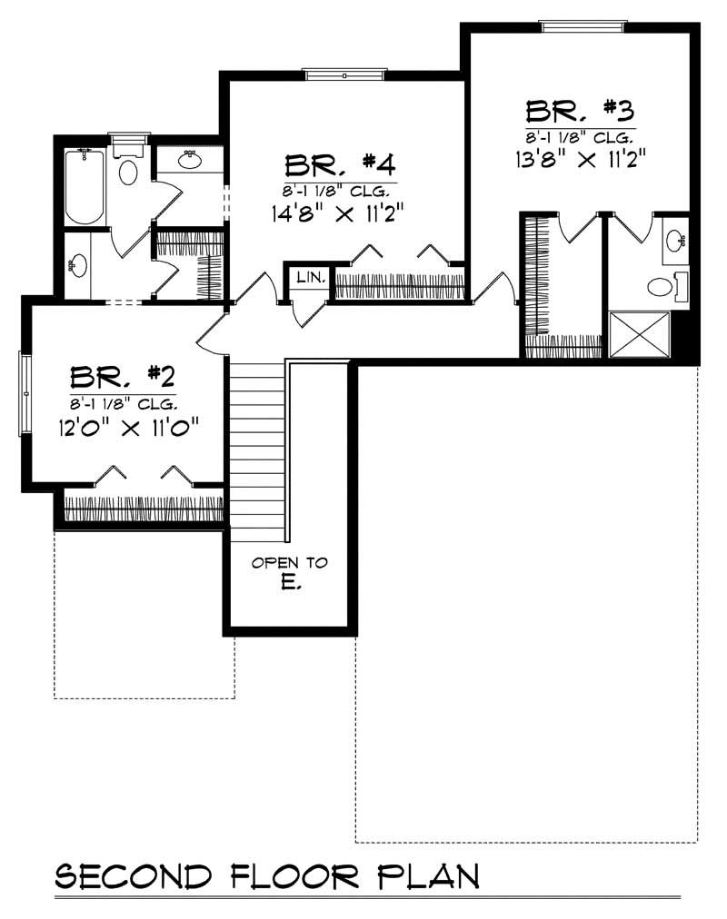 Ranch home with 4 bdrms 2114 sq ft floor plan 101 1700 for Ranch house plans 1700 square feet