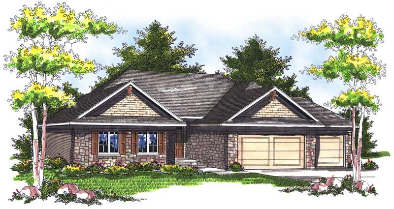 ranch home with 3 bdrms 1896 sq ft house plan 101 1701 87805