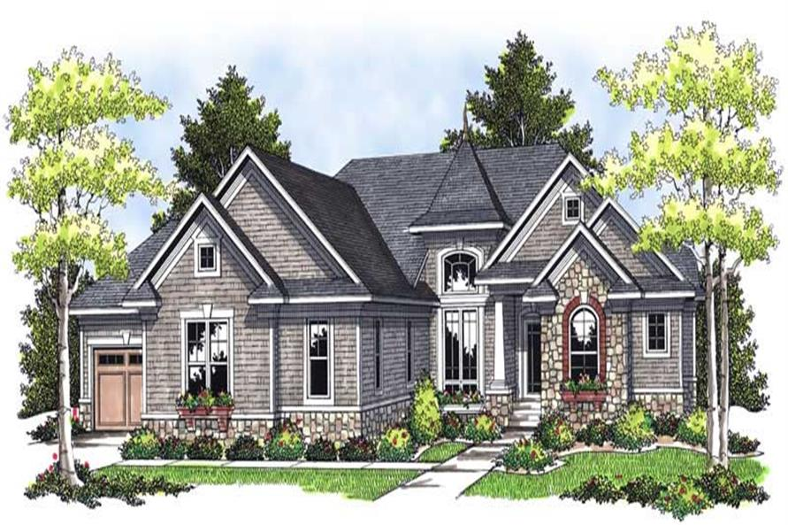 4-Bedroom, 3909 Sq Ft European Home Plan - 101-1702 - Main Exterior