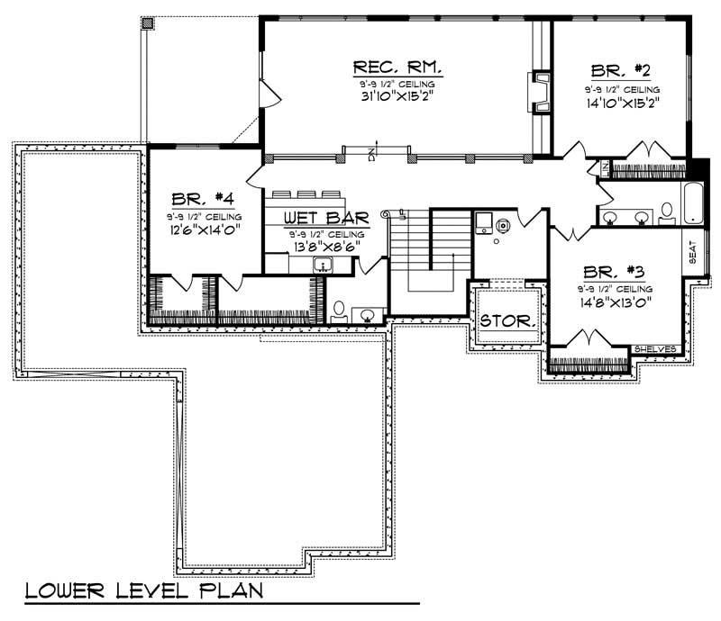 european home with 4 bdrms 3909 sq ft house plan 101 1702