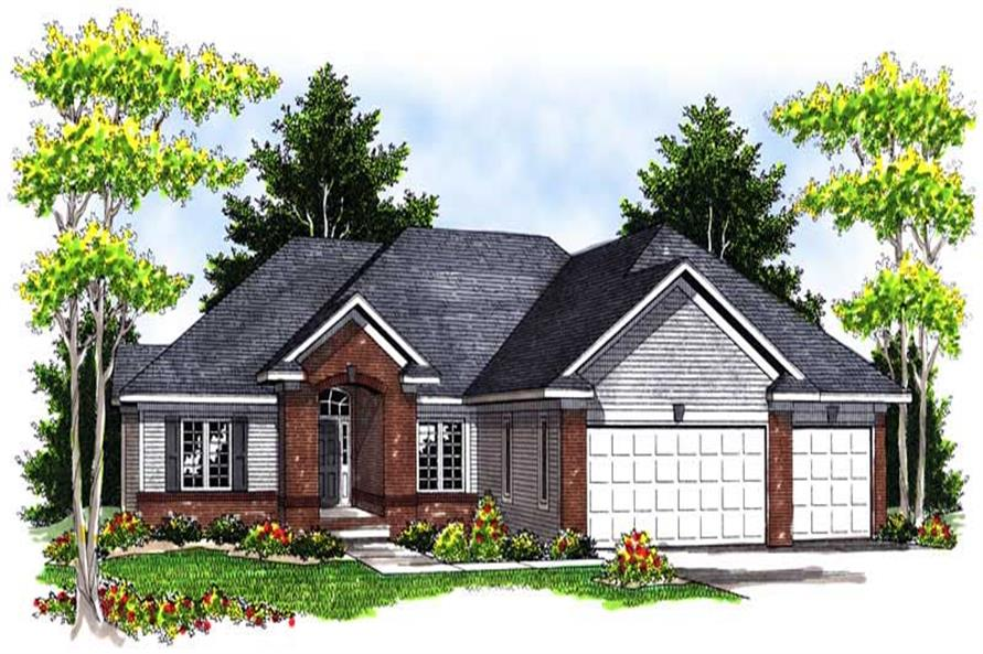 3-Bedroom, 2003 Sq Ft Ranch House Plan - 101-1706 - Front Exterior