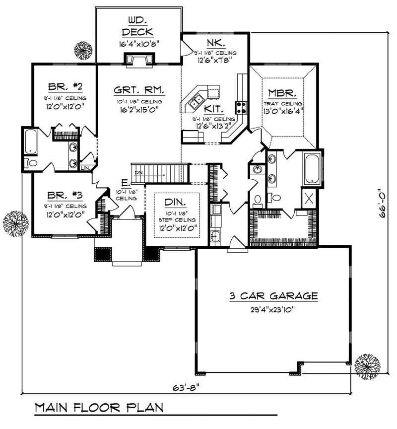 House Design 101: Ranch Home With 3 Bdrms, 2003 Sq Ft