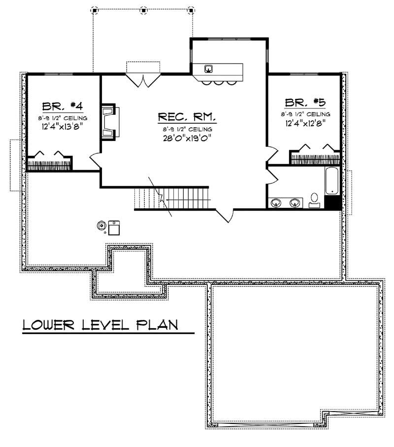 ranch home with 5 bdrms 3190 sq ft house plan 101 1707