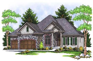 4-Bedroom, 3777 Sq Ft Country Home Plan - 101-1712 - Main Exterior