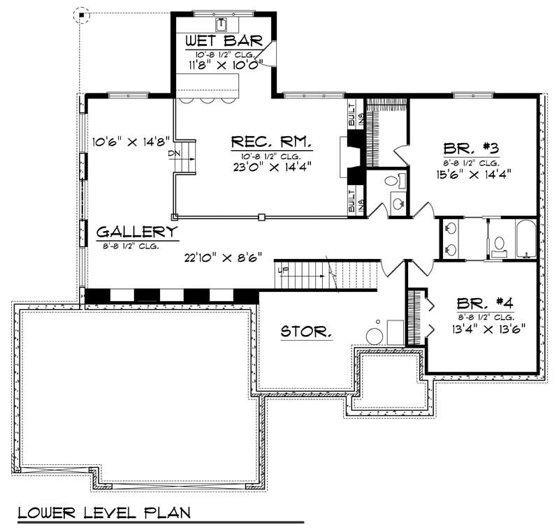 Country ranch home with 4 bdrms 3777 sq ft house plan for 101 richmond floor plans