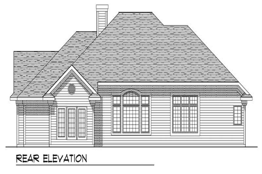 Home Plan Rear Elevation of this 3-Bedroom,2095 Sq Ft Plan -101-1713