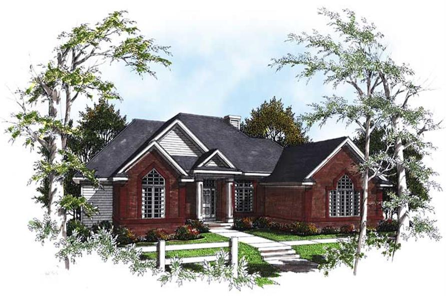 3-Bedroom, 2095 Sq Ft Ranch House Plan - 101-1713 - Front Exterior