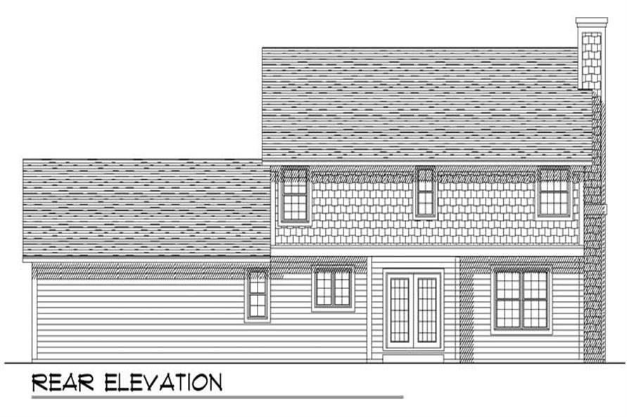 Home Plan Rear Elevation of this 3-Bedroom,1986 Sq Ft Plan -101-1714