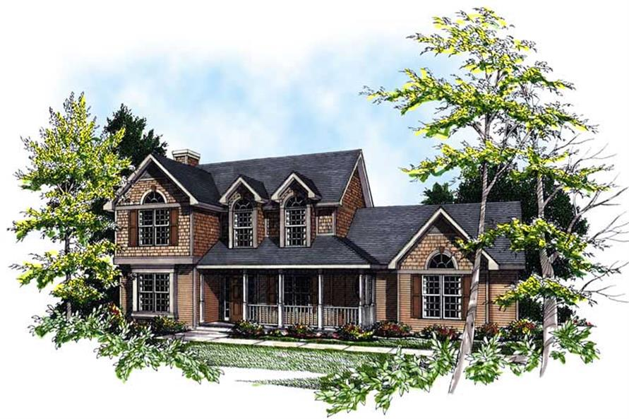 3-Bedroom, 1986 Sq Ft Country Home Plan - 101-1714 - Main Exterior