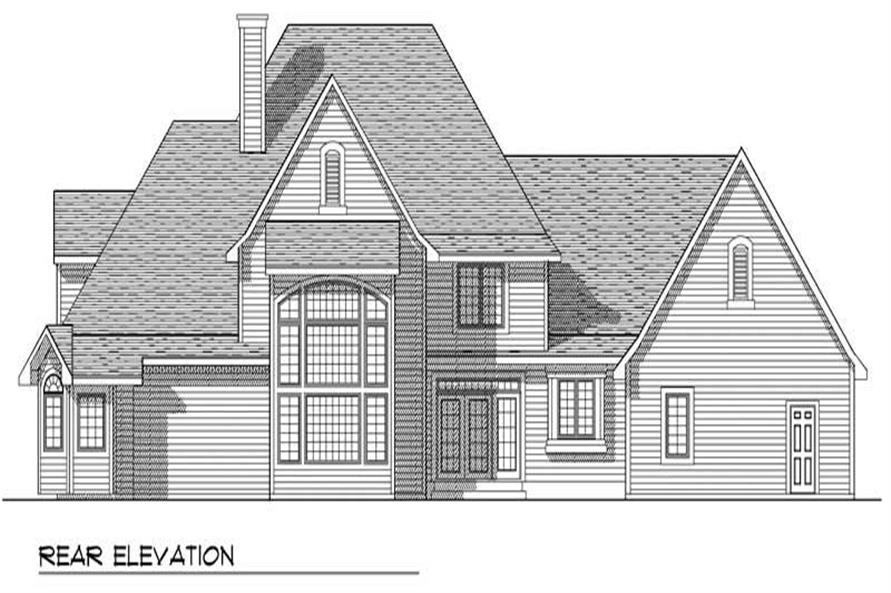 Home Plan Rear Elevation of this 4-Bedroom,3650 Sq Ft Plan -101-1716