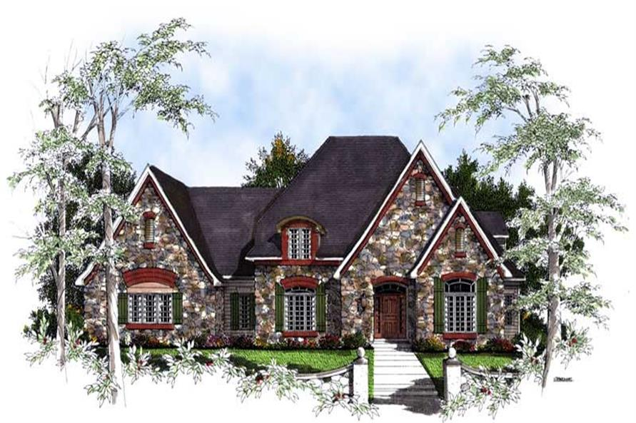 Home Plan Rendering of this 4-Bedroom,3650 Sq Ft Plan -101-1716