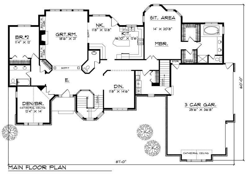 Ranch Home With 3 Bdrms 2600 Sq Ft House Plan 101 1722