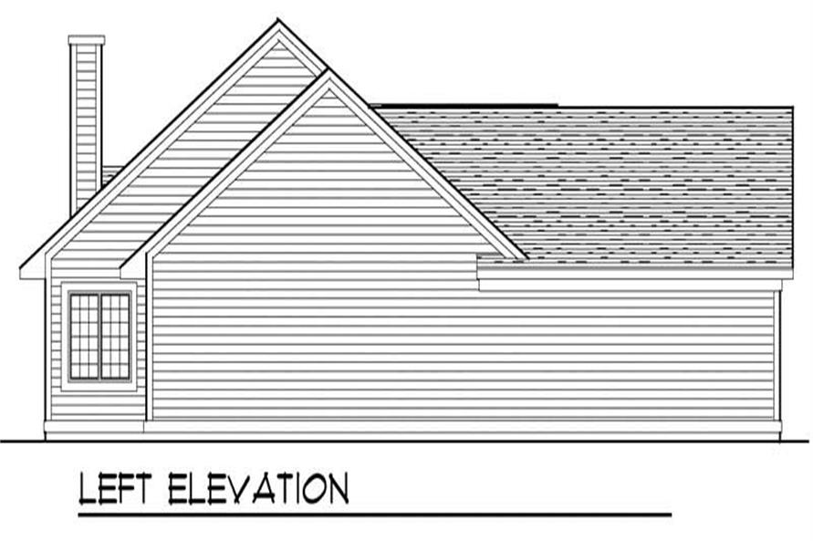 Home Plan Left Elevation of this 3-Bedroom,1756 Sq Ft Plan -101-1723