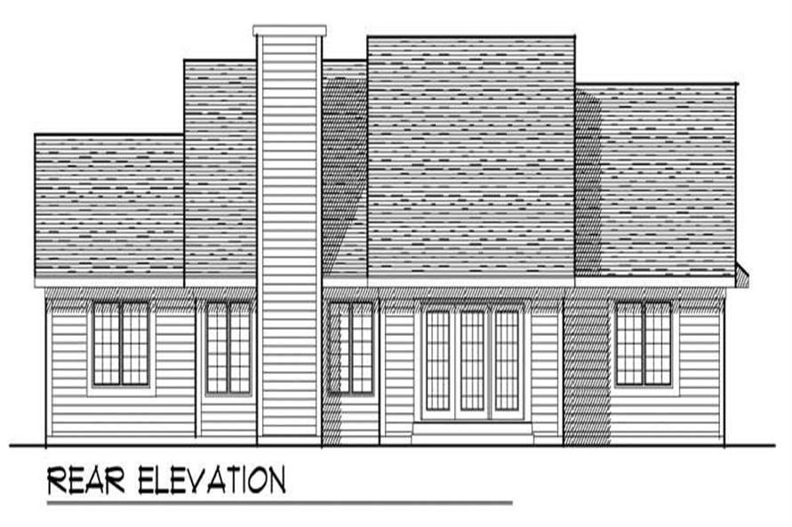 Home Plan Rear Elevation of this 3-Bedroom,1756 Sq Ft Plan -101-1723