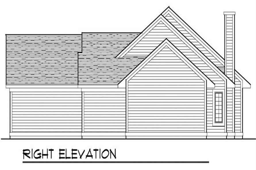 Home Plan Right Elevation of this 3-Bedroom,1756 Sq Ft Plan -101-1723