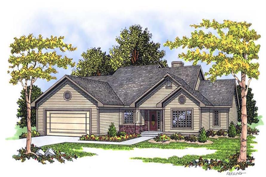 3-Bedroom, 1756 Sq Ft Country House Plan - 101-1723 - Front Exterior