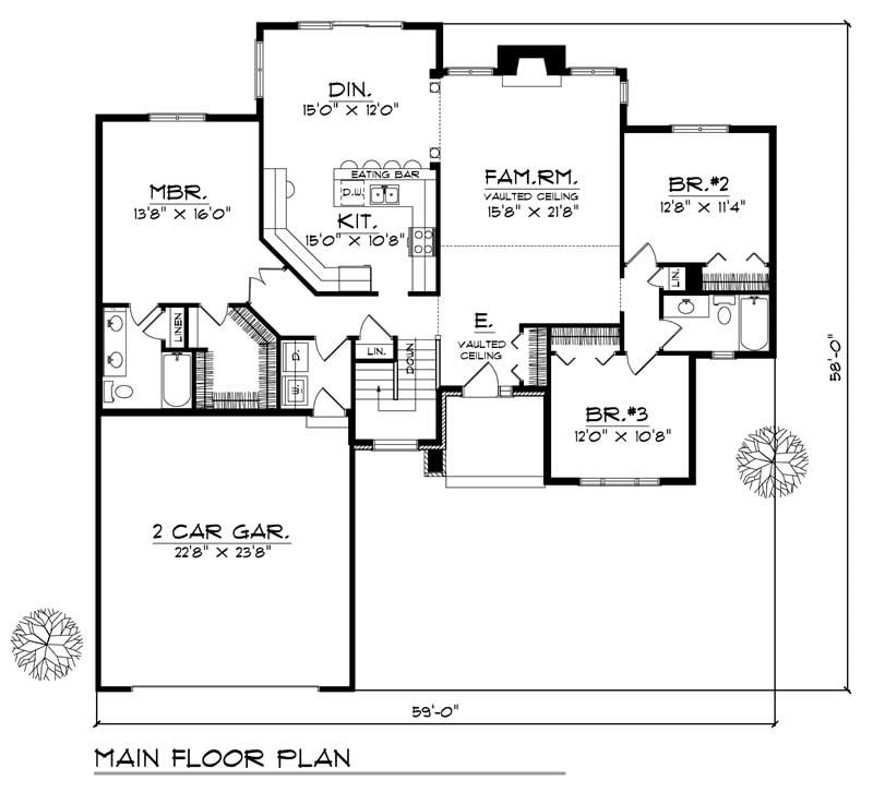House Design 101: Country Home With 3 Bdrms, 1756 Sq Ft