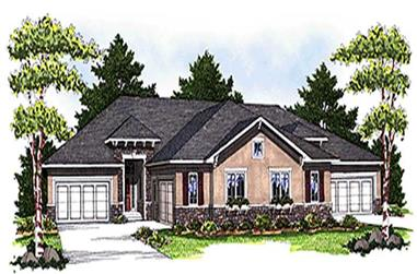 4-Bedroom, 6624 Sq Ft Multi-Unit Home Plan - 101-1724 - Main Exterior