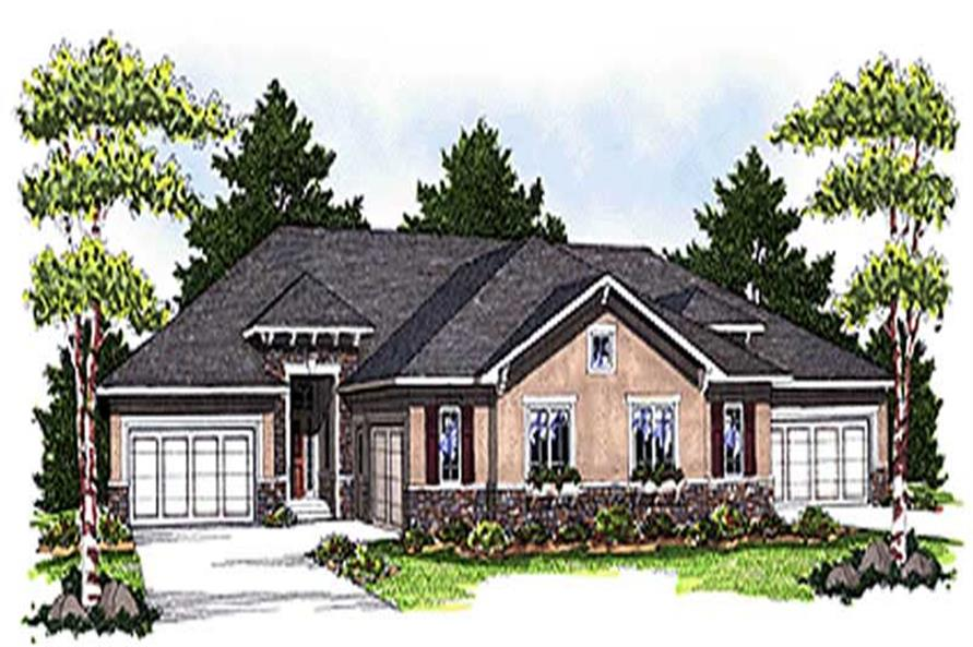 4-Bedroom, 6624 Sq Ft Multi-Unit Home Plan - 101-1724 - Main Exterior