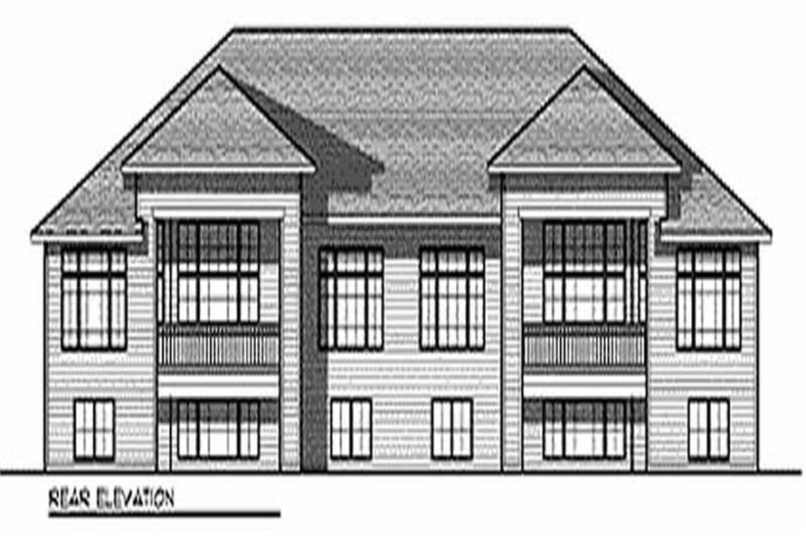 Home Plan Rear Elevation of this 4-Bedroom,6624 Sq Ft Plan -101-1724