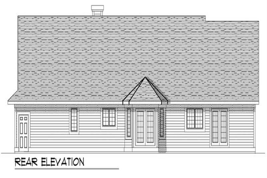 Home Plan Rear Elevation of this 3-Bedroom,1851 Sq Ft Plan -101-1725