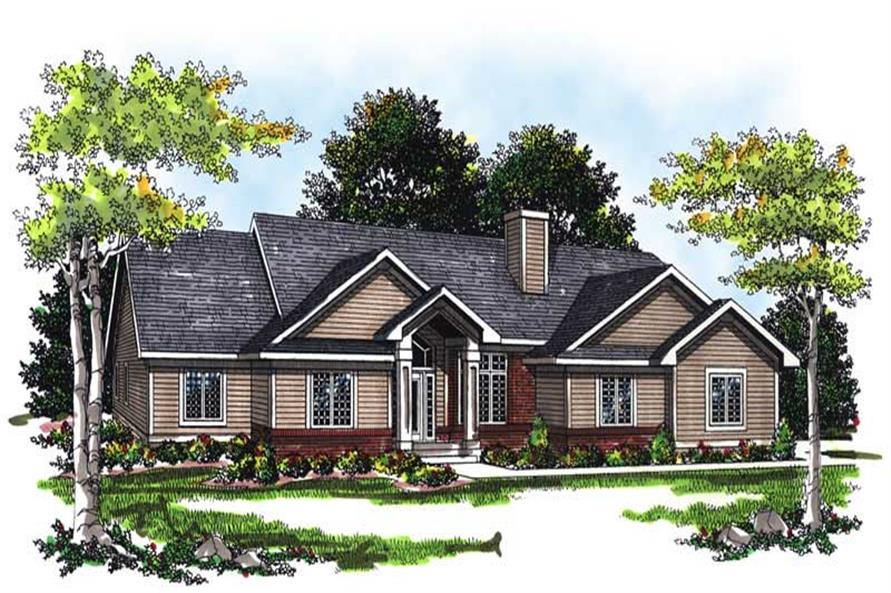 3-Bedroom, 1851 Sq Ft Ranch House Plan - 101-1725 - Front Exterior