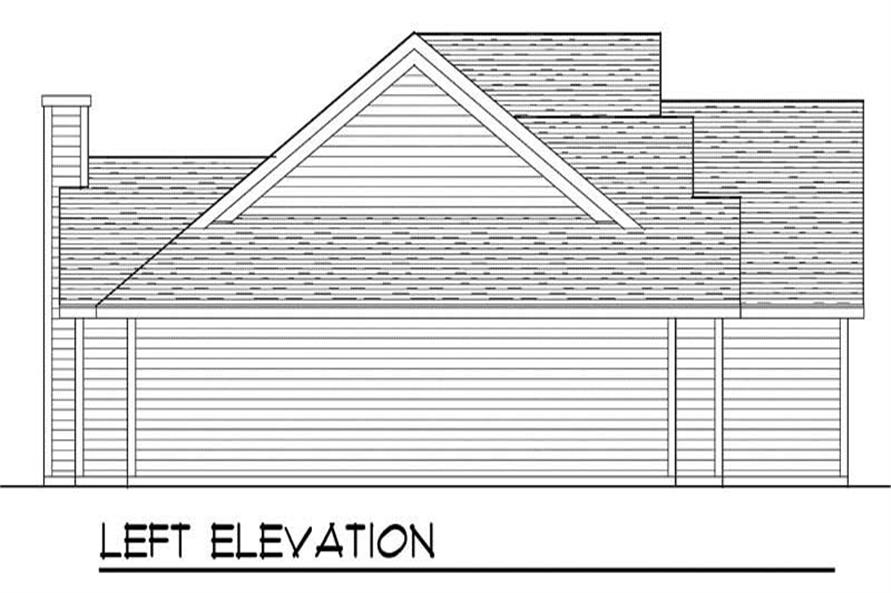Home Plan Left Elevation of this 3-Bedroom,1802 Sq Ft Plan -101-1727