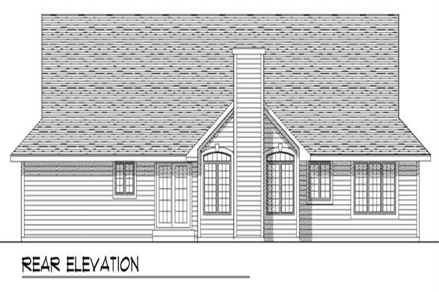Home Plan Rear Elevation of this 3-Bedroom,1802 Sq Ft Plan -101-1727