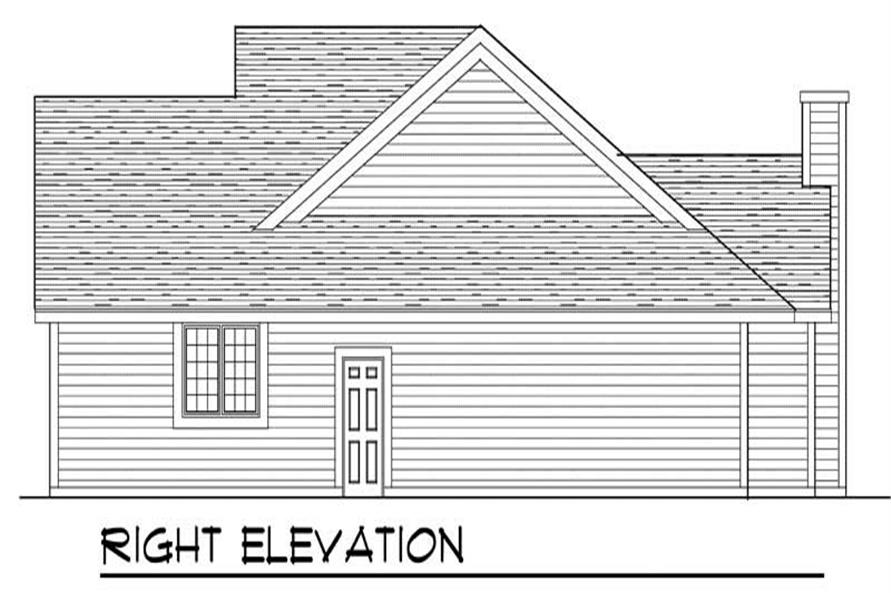 Home Plan Right Elevation of this 3-Bedroom,1802 Sq Ft Plan -101-1727