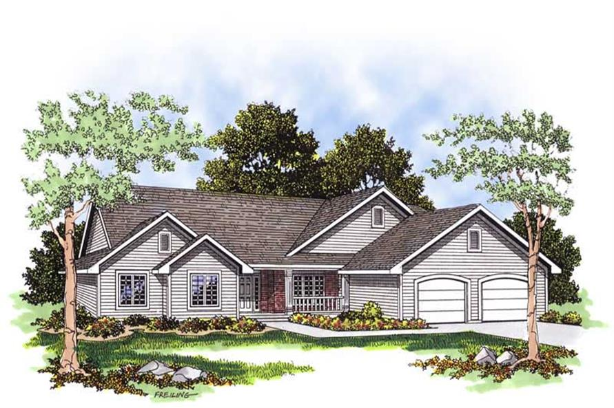 3-Bedroom, 1802 Sq Ft Country House Plan - 101-1727 - Front Exterior