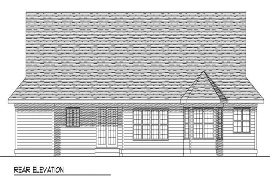 Home Plan Rear Elevation of this 3-Bedroom,1750 Sq Ft Plan -101-1729