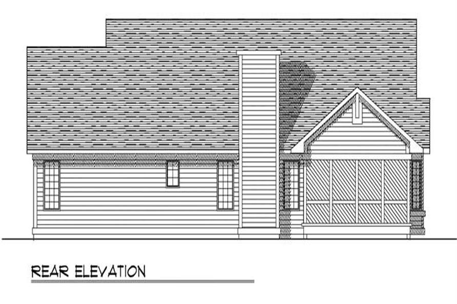 Home Plan Rear Elevation of this 3-Bedroom,1733 Sq Ft Plan -101-1731