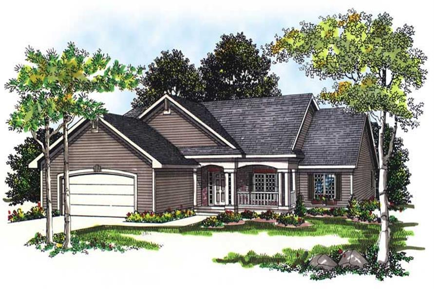 3-Bedroom, 1733 Sq Ft Country House Plan - 101-1731 - Front Exterior