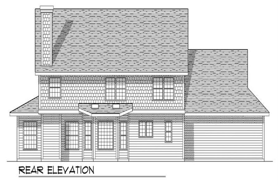 Home Plan Rear Elevation of this 4-Bedroom,2491 Sq Ft Plan -101-1732