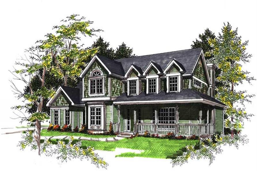 4-Bedroom, 2491 Sq Ft Country House Plan - 101-1732 - Front Exterior