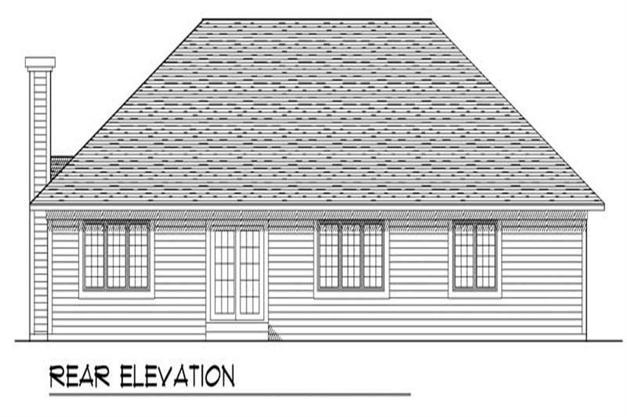 Home Plan Rear Elevation of this 3-Bedroom,1849 Sq Ft Plan -101-1734