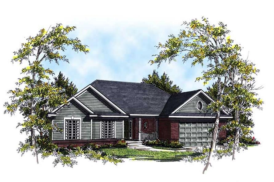 Home Plan Rendering of this 3-Bedroom,1849 Sq Ft Plan -101-1734