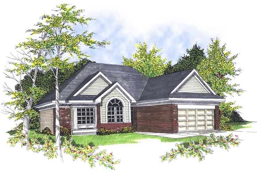 3-Bedroom, 1596 Sq Ft Bungalow House Plan - 101-1735 - Front Exterior