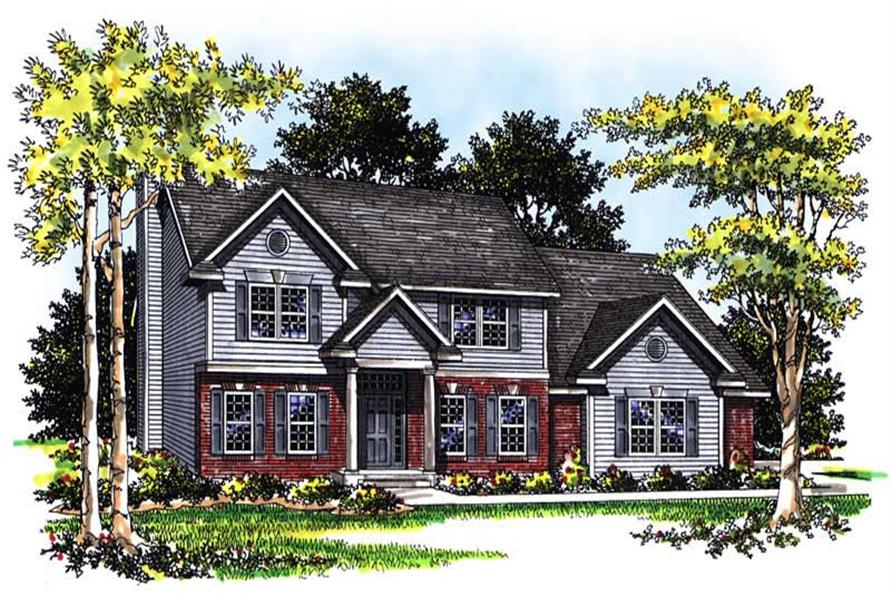 4-Bedroom, 2493 Sq Ft Cape Cod House Plan - 101-1738 - Front Exterior