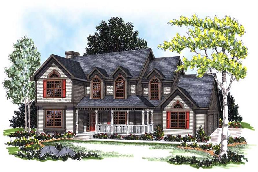 Front elevation of Country home (ThePlanCollection: House Plan #101-1739)