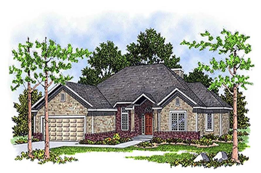 3-Bedroom, 1756 Sq Ft Contemporary Home Plan - 101-1743 - Main Exterior