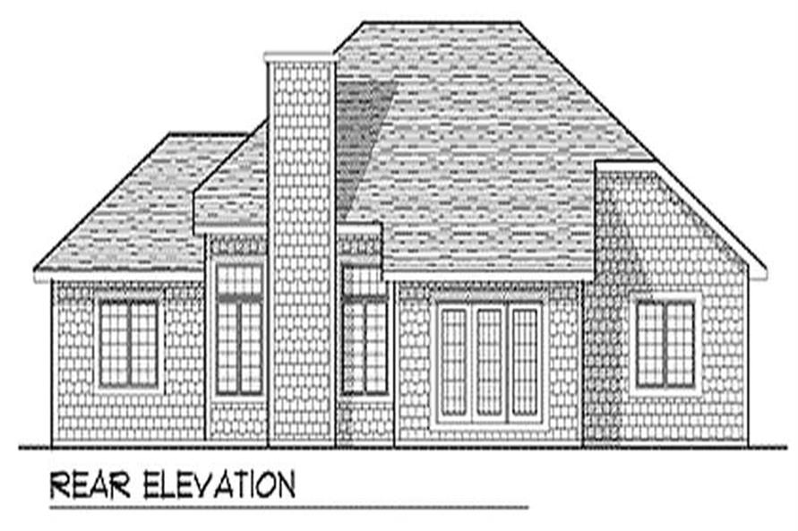 Home Plan Rear Elevation of this 3-Bedroom,1756 Sq Ft Plan -101-1743