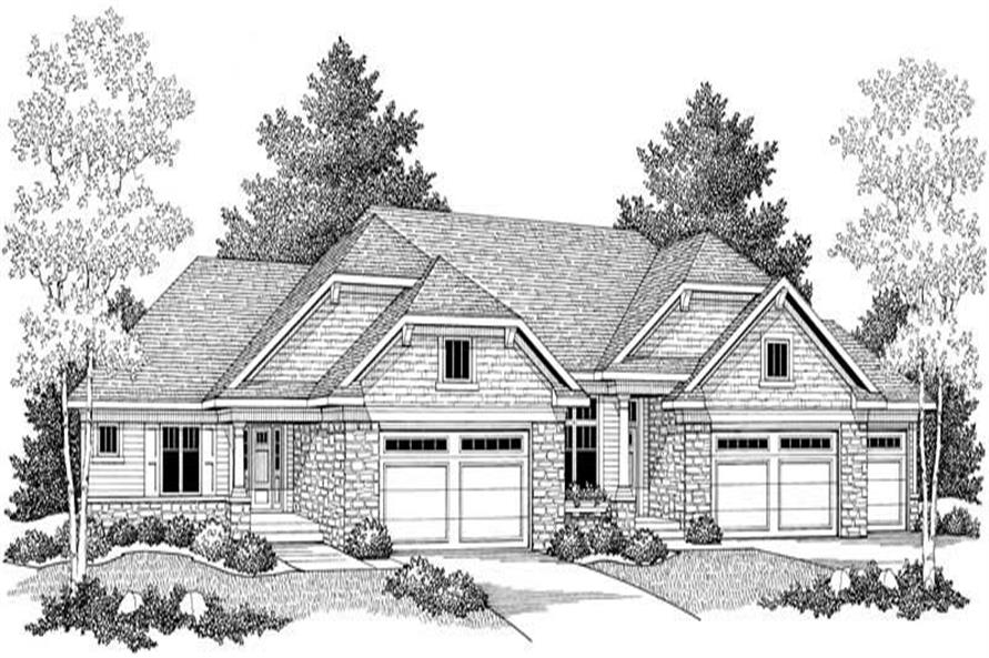Home Plan Front Elevation of this 3-Bedroom,5338 Sq Ft Plan -101-1744