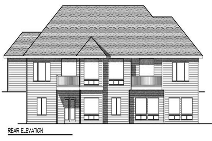 Home Plan Rear Elevation of this 3-Bedroom,5338 Sq Ft Plan -101-1744