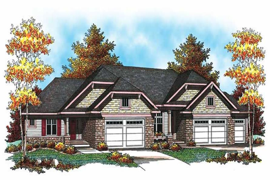 3-Bedroom, 5338 Sq Ft Multi-Unit Home Plan - 101-1744 - Main Exterior