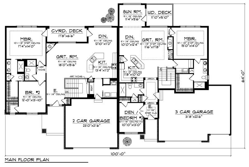 Multi Unit Home With 3 Bdrms 5338 Sq Ft Floor Plan 101