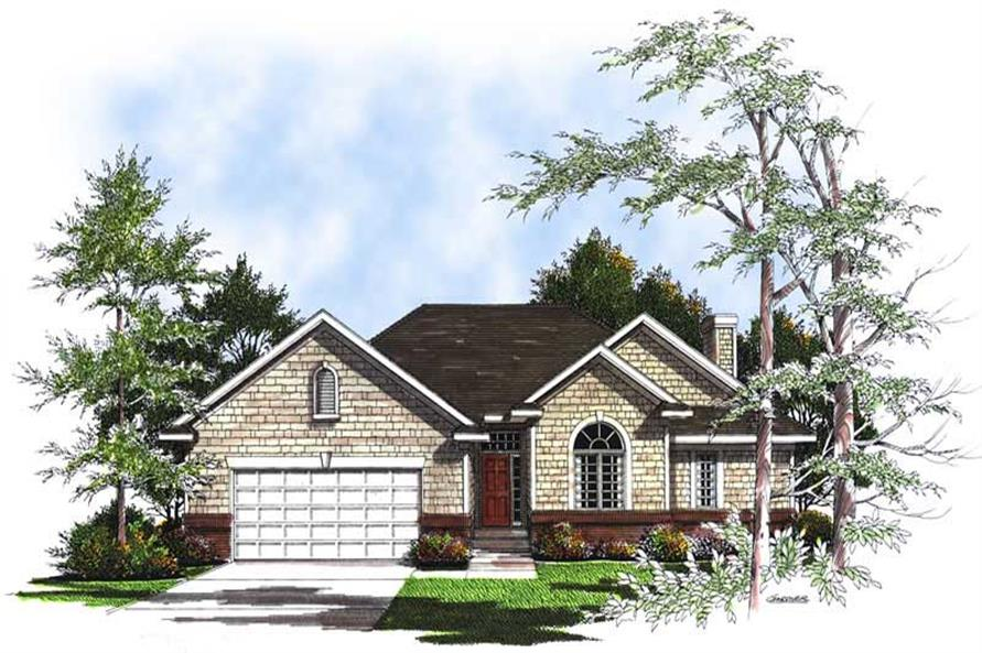 3-Bedroom, 1728 Sq Ft Ranch House Plan - 101-1745 - Front Exterior