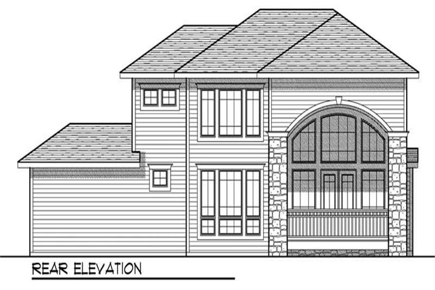 Home Plan Rear Elevation of this 3-Bedroom,2578 Sq Ft Plan -101-1746