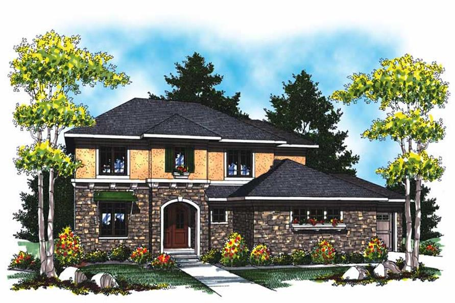 3-Bedroom, 2578 Sq Ft Colonial House Plan - 101-1746 - Front Exterior
