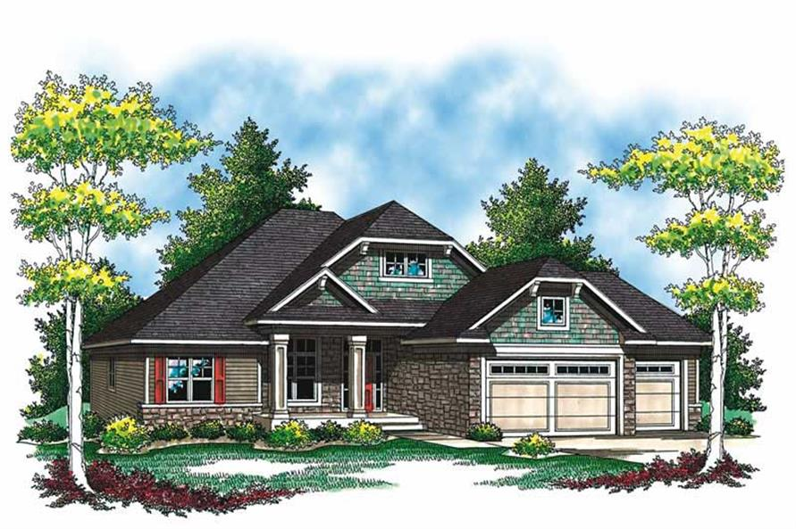 Main image for house plan # 19550